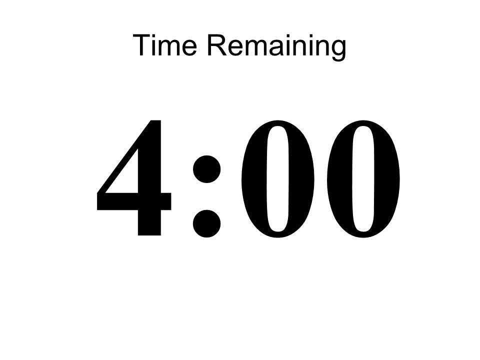 17 Time Remaining 4:00
