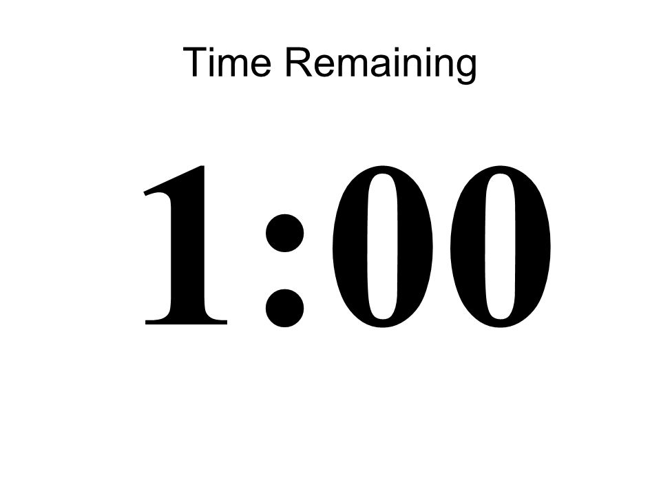 20 Time Remaining 1:00