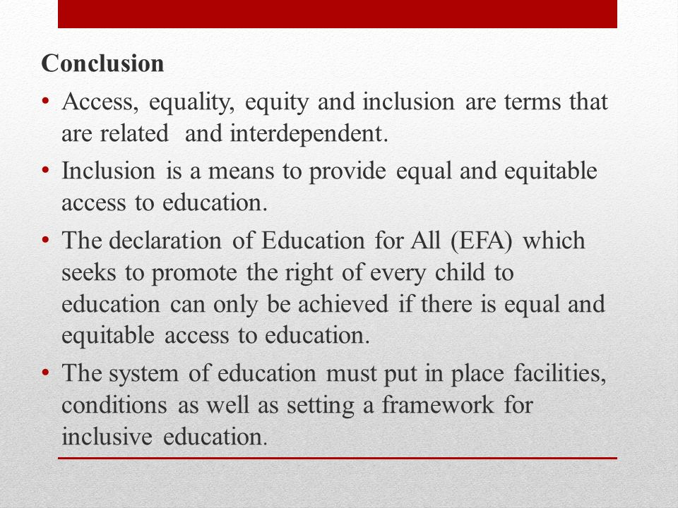 equity and equality in education pdf