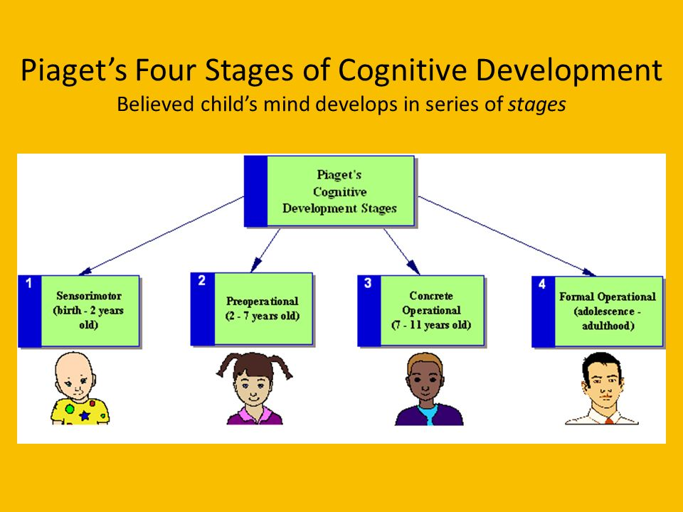 a short description of the four stages of childhood cognitive development The preoperational stage is the second stage in piaget's theory of cognitive development this stage begins around age 2, as children start to talk, and lasts until approximately age 7 this stage begins around age 2, as children start to talk, and lasts until approximately age 7.