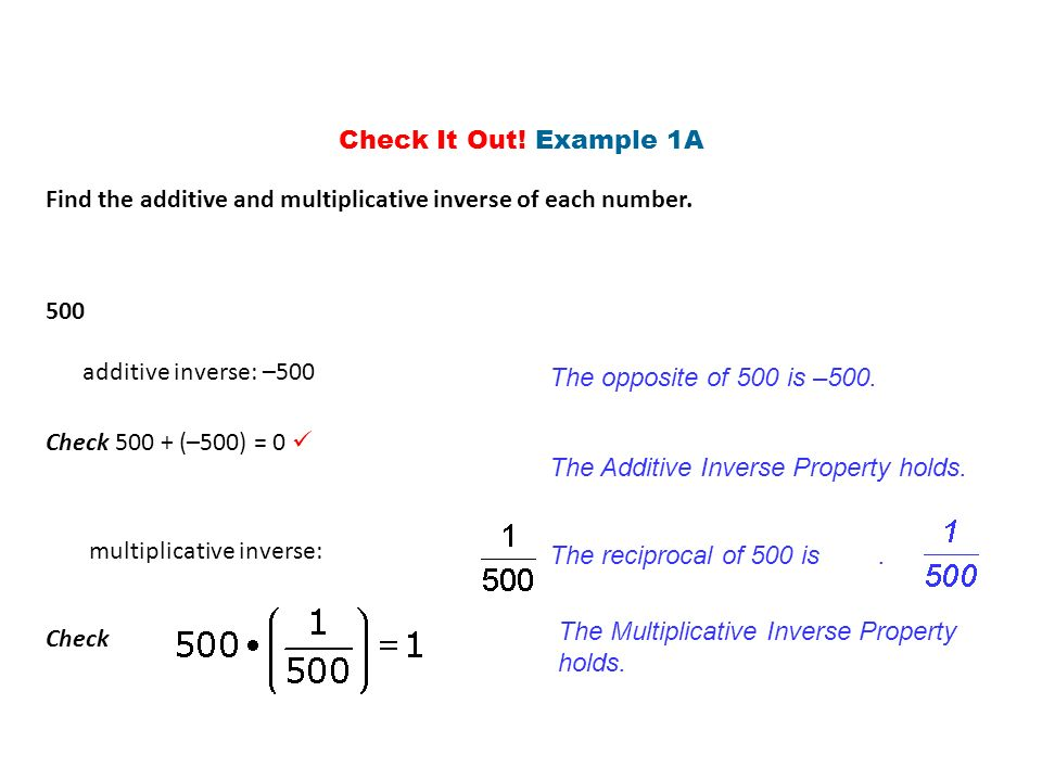 Inverse Properties Ppt Download
