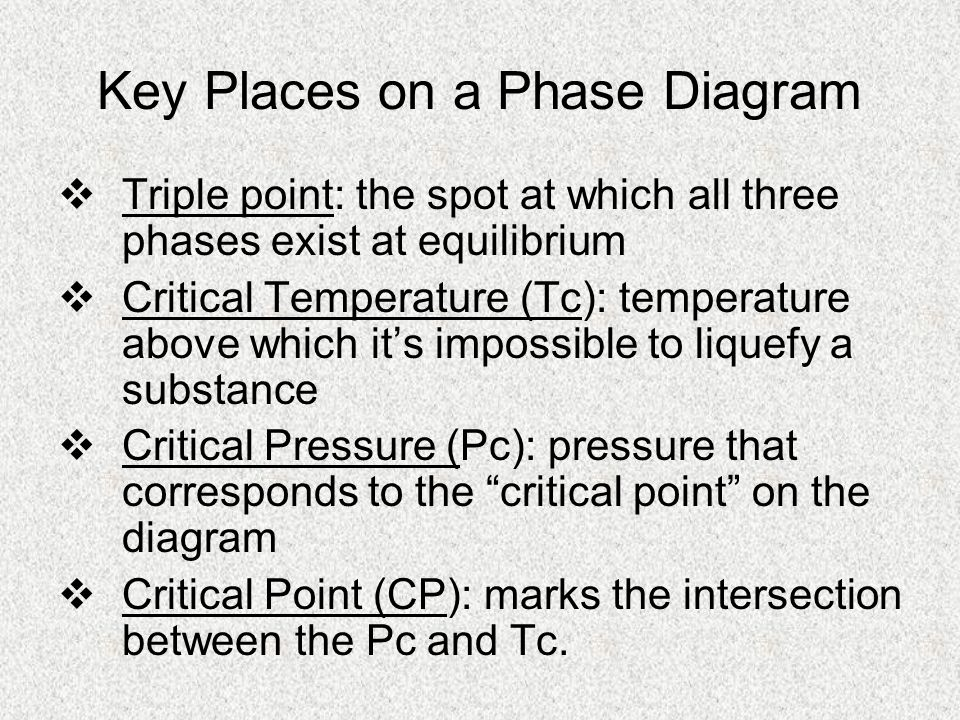 Phase diagrams heating curves ppt video online download key places on a phase diagram ccuart Choice Image