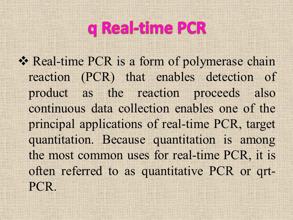 Real-Time PCR  - ppt video online download