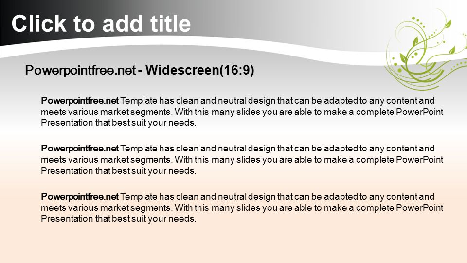 Download more powerpoint templates from powerpointfree ppt click to add title powerpointfree widescreen169 toneelgroepblik Choice Image
