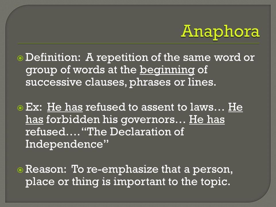 rhetorical devices alliteration allusion assonance anaphora ppt