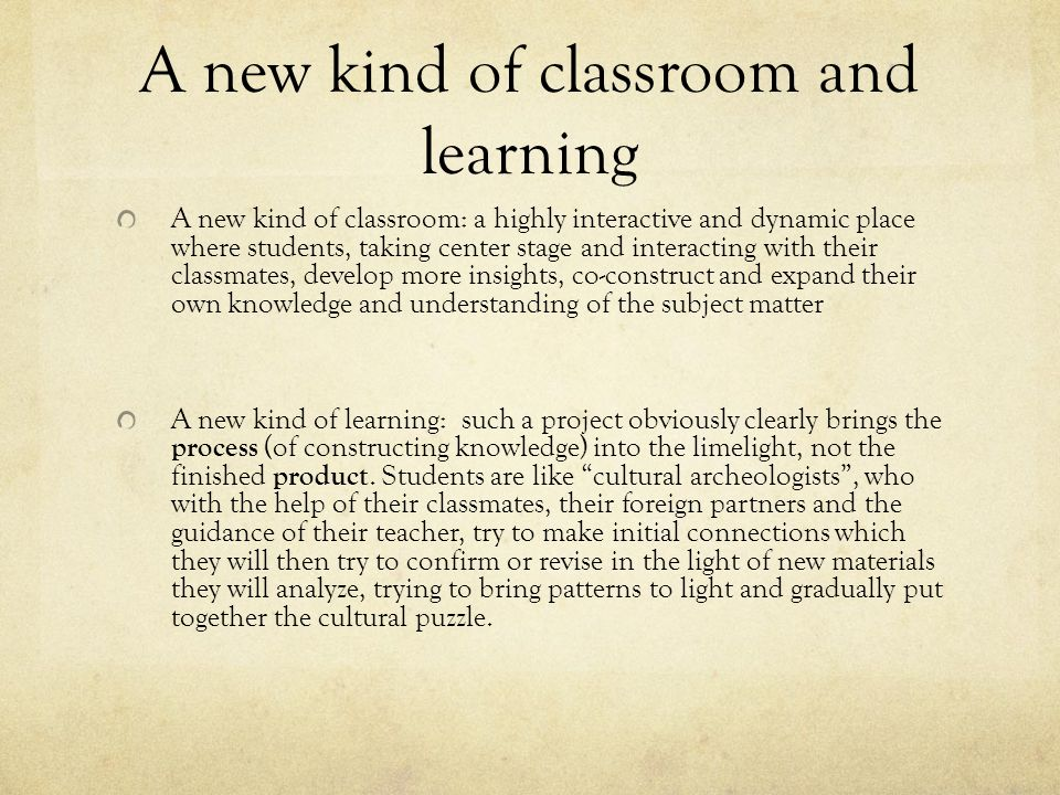 A new kind of classroom and learning