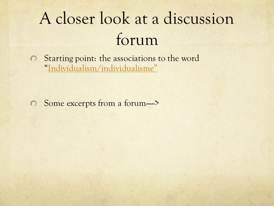 A closer look at a discussion forum