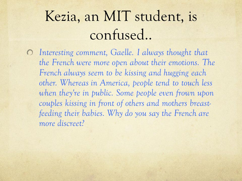 Kezia, an MIT student, is confused..