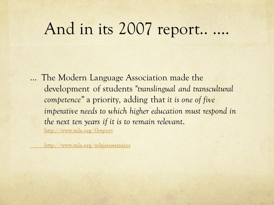And in its 2007 report.. ….