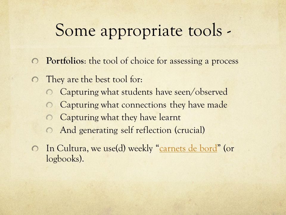 Some appropriate tools -