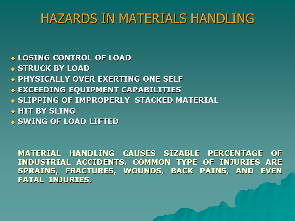 SAFETY IN MATERIALS HANDLING AND CONTINUAL IMPROVEMENT - ppt video ...