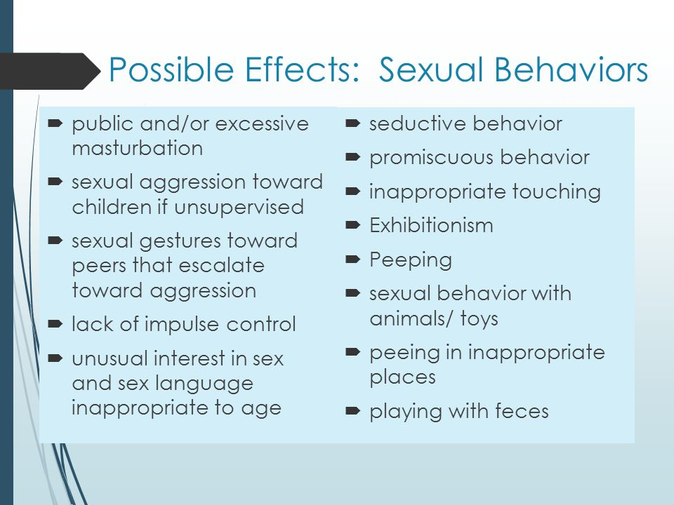 Promiscuous sexual behavior