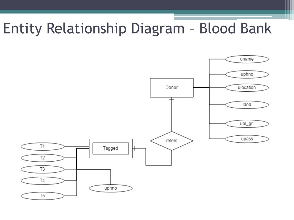 Er diagram university donations block and schematic diagrams blood donors system project lead chaitanya m project members rh slideplayer com workbench eer diagram university database er diagram university ccuart Images