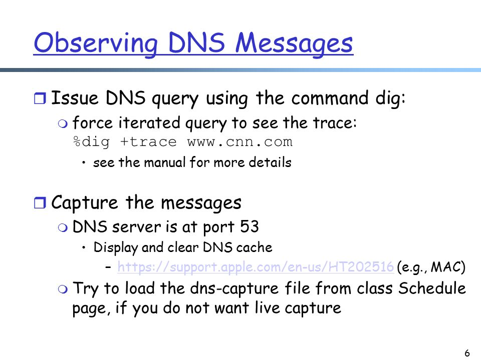 Network Applications: DNS Details