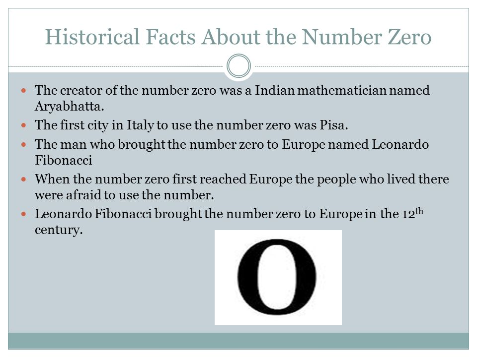 Historical Facts About The Number Zero