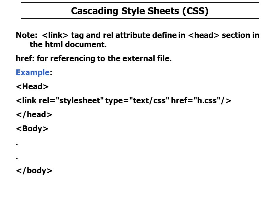 cascading style sheets css ppt download