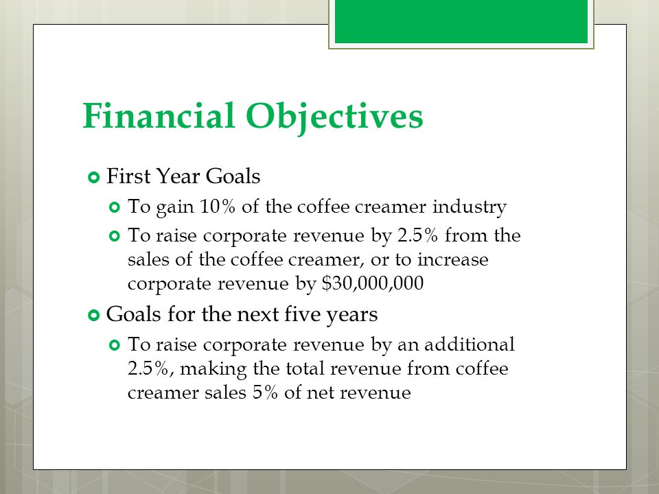 objectives of starbucks coffee company