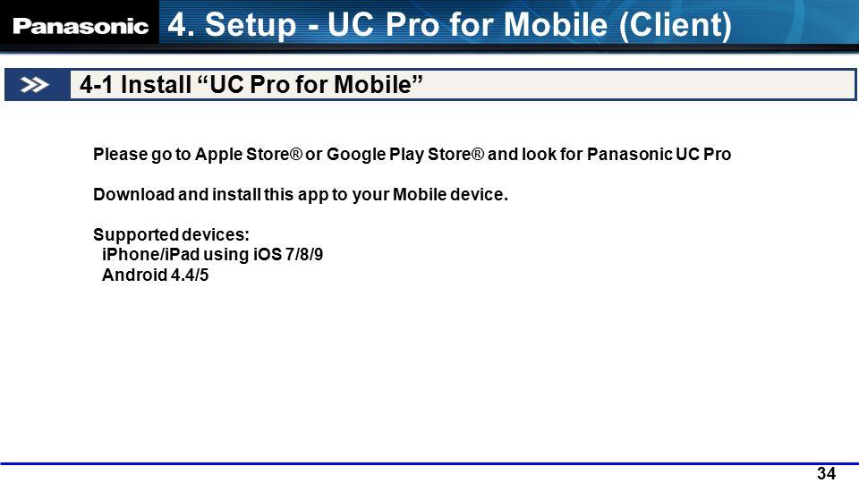 Panasonic UC Pro - UC Pro Web Service Basic setup - - ppt video