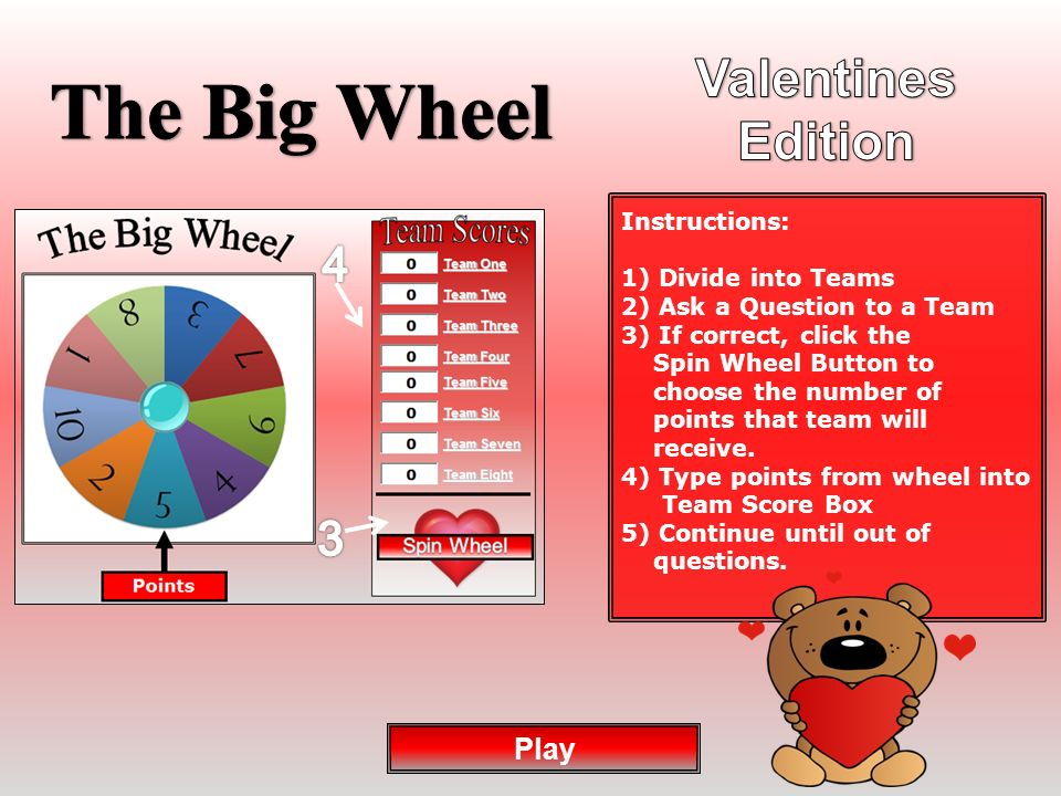 The Big Wheel Happy Valentines Play Ppt Download