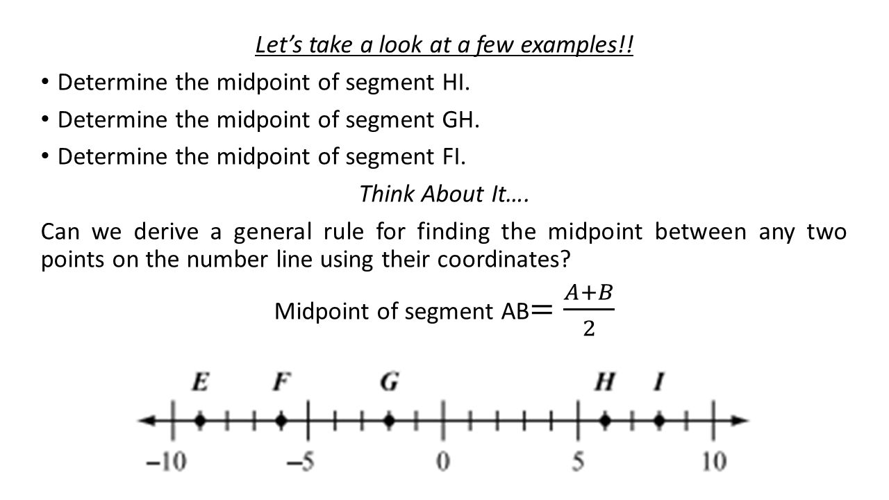 Definition and examples midpoint | define midpoint geometry.