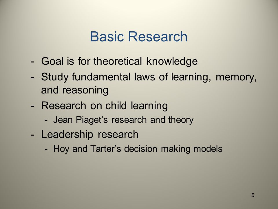 what is the goal of research paper Goal theory is used to interpret the motivation behind the choices people make edwin locke created the theory in the 1960s.