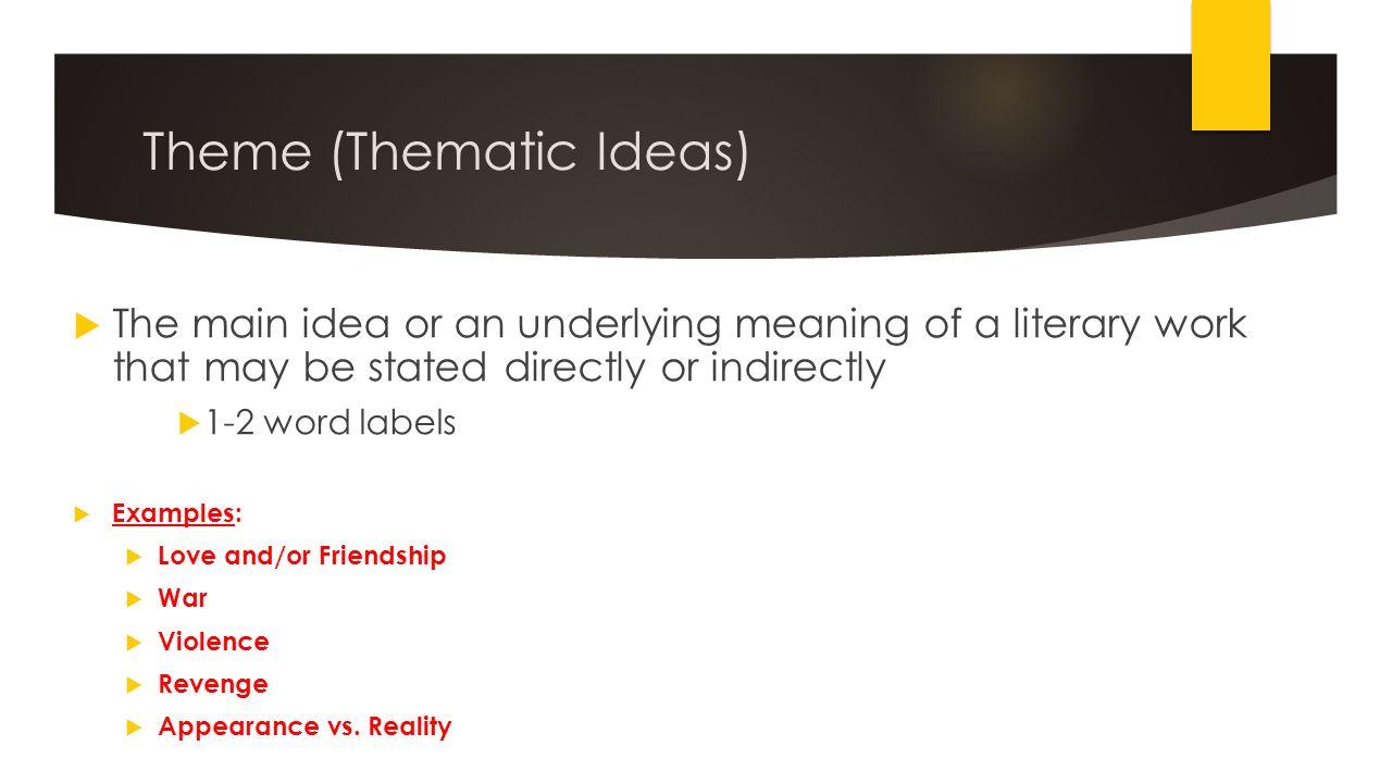 thematic idea definition