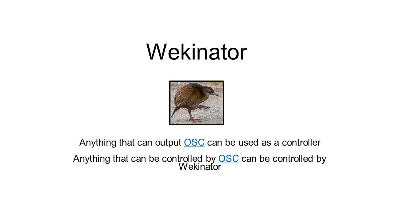 Wekinator - ppt video online download