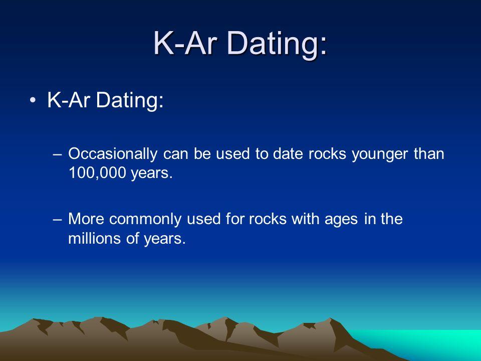 K-ar dating method