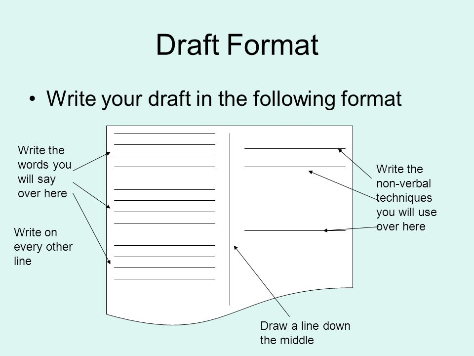 Writing the paragraphs in the first draft ppt video online download.