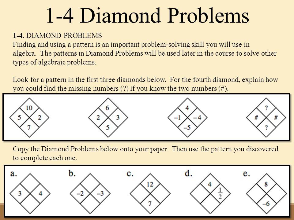 14 Diamond Problems: Diamond Math Problems Worksheet At Alzheimers-prions.com