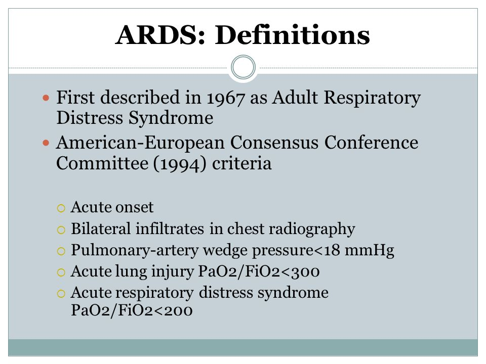 Respiratory distress Adult