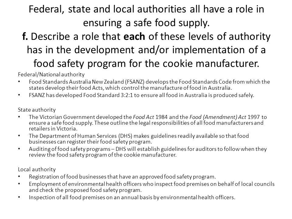 Australian And New Zealand Food Standards Australia Inspection