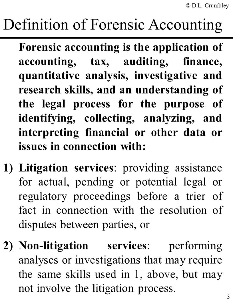 The fraud side of forensic accounting d larry crumbley cpa cr definition of forensic accounting solutioingenieria Images