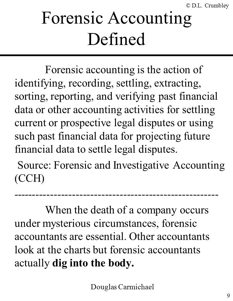 The fraud side of forensic accounting d larry crumbley cpa cr forensic accounting defined solutioingenieria Images