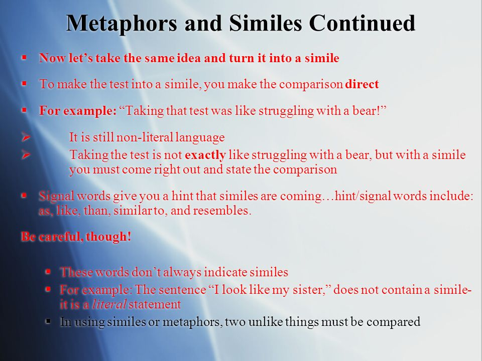 Metaphors Similes Personification Ppt Video Online Download