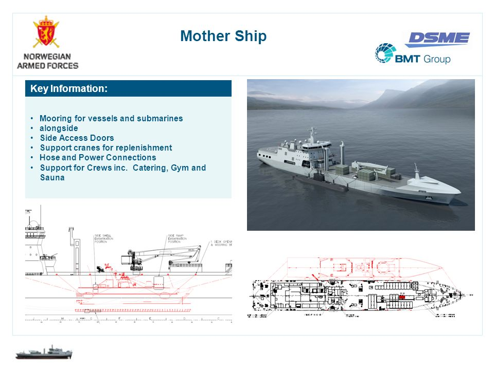 Mother Ship Key Information: Mooring for vessels and submarines