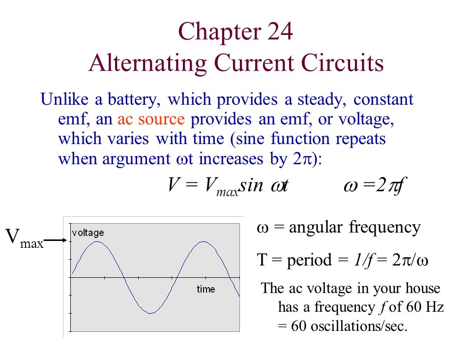 chapter 24 alternating current circuits ppt video online