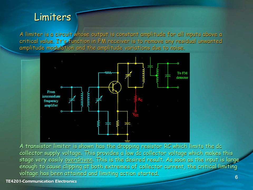 11  FM Receiver Circuits  FM Reception RF Amplifiers Limiters - ppt