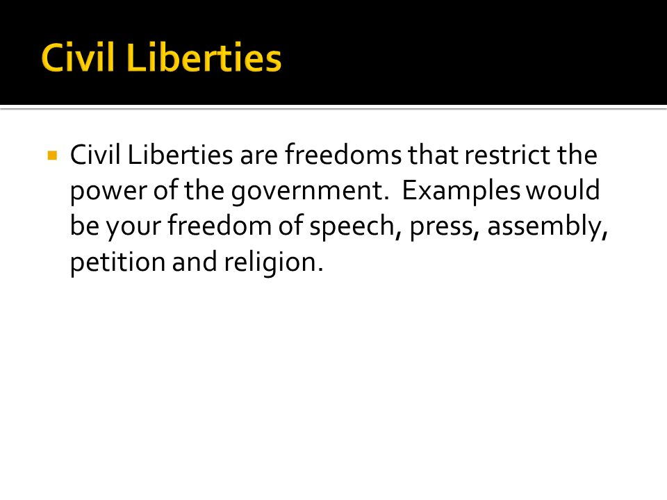 civil liberties notes While we strive to provide the most comprehensive notes for as many high school textbooks as possible, there are certainly going to be some that we miss.