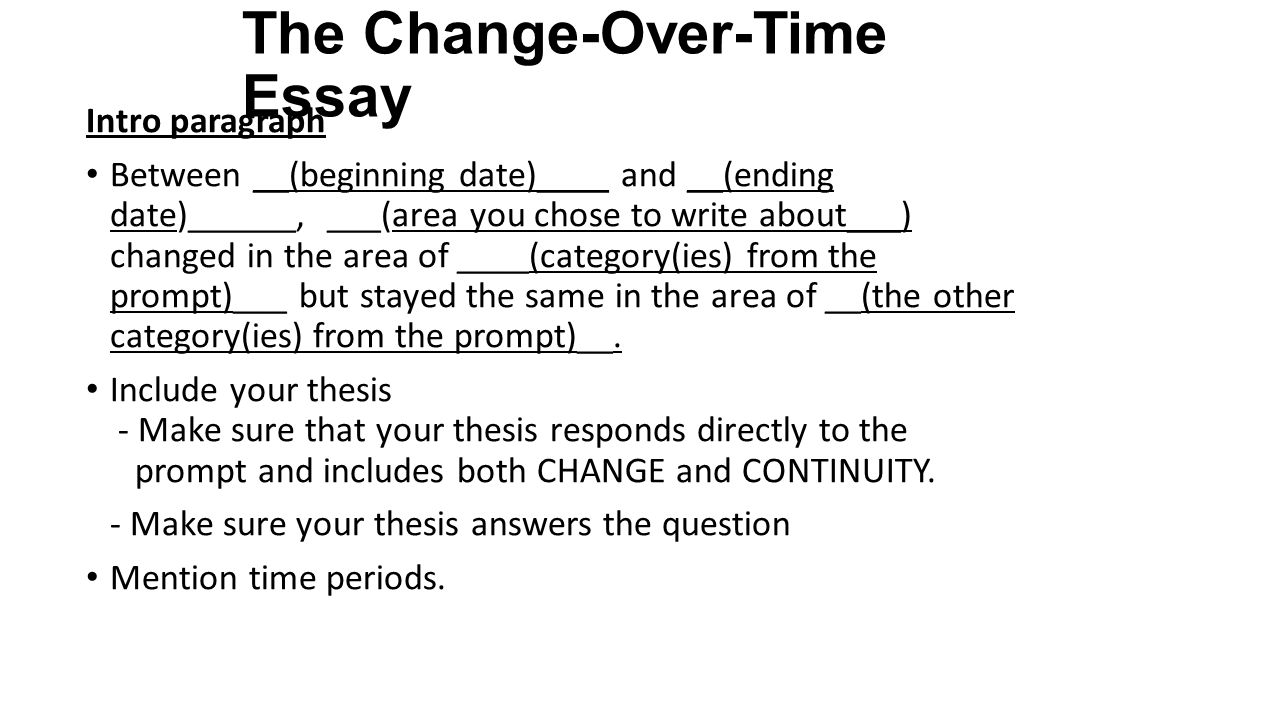 change and continuity over tome essay essay If there is such a thing as a memory trace that persists over time,  (and other kinds of change) one is the perception of  an essay on temporal.