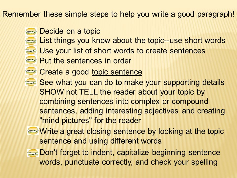 How To Write A Paragraph Ppt Video Online Download