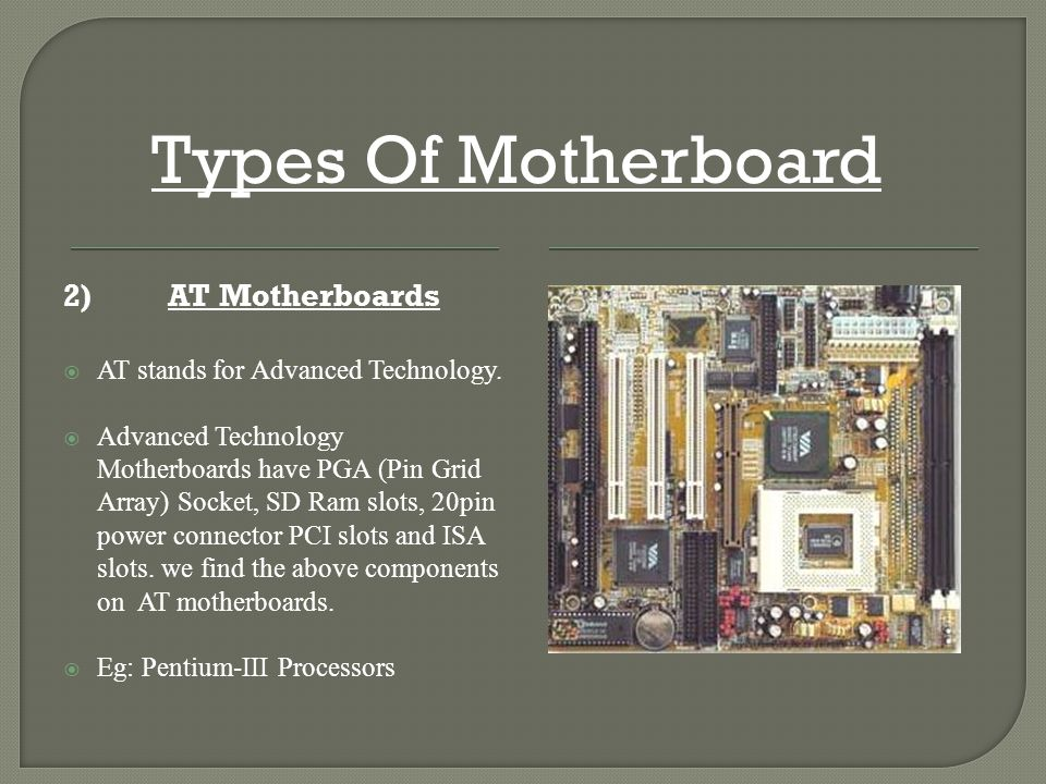 motherboard types ppt