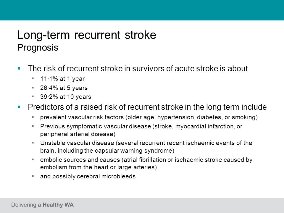 Secondary stroke prevention - ppt video online download