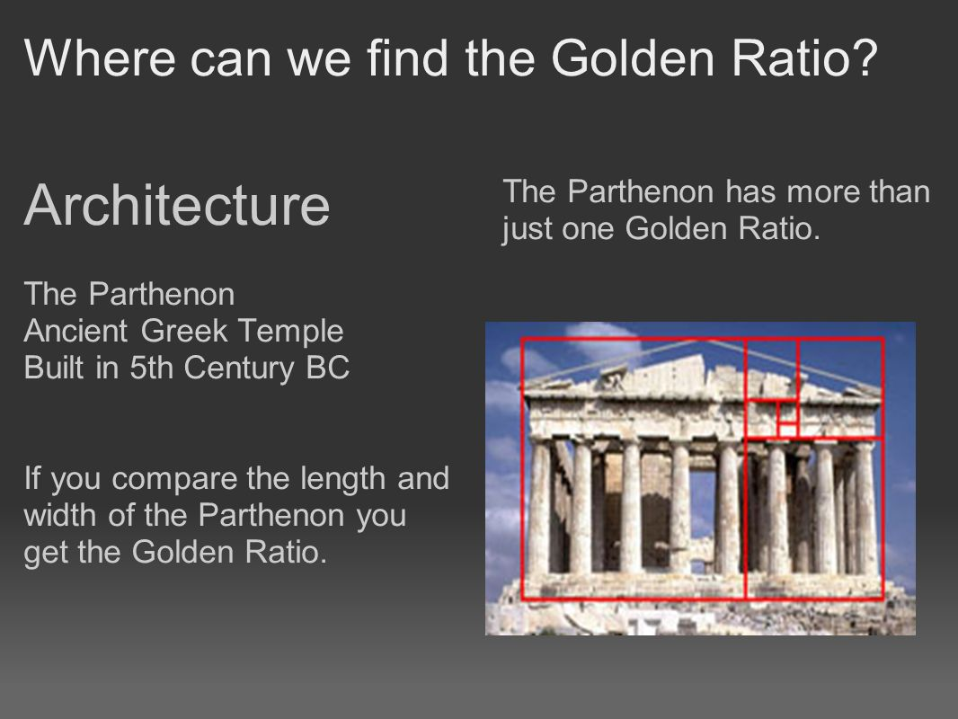 Where can we find the Golden Ratio