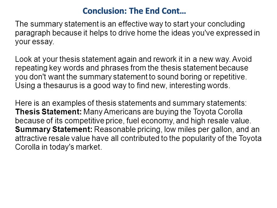 phrases to start a conclusion paragraph