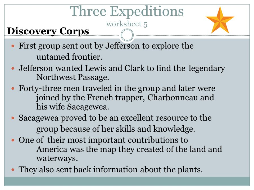 Answers To Chapter 3 Worksheet On Expeditions Ppt Video Online