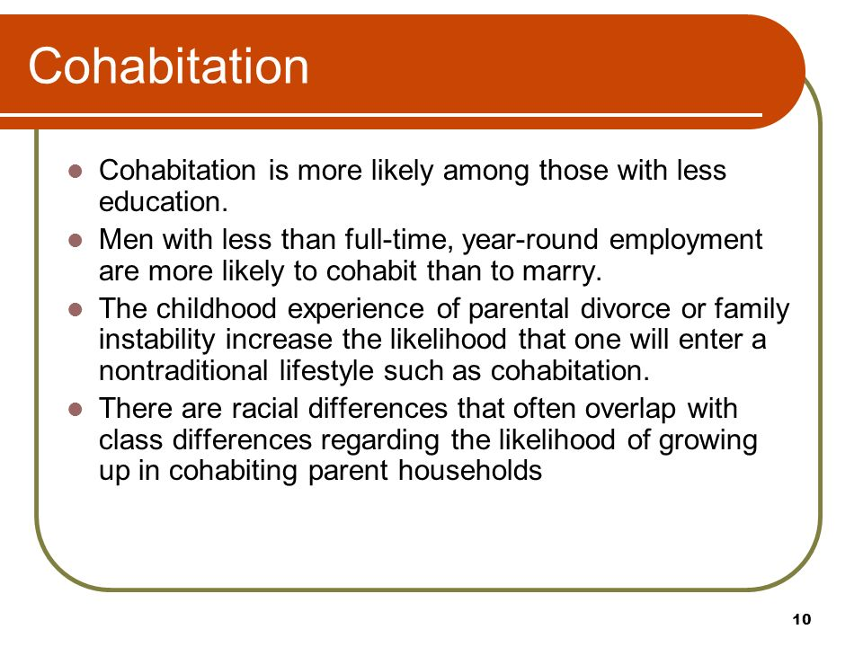 What is the difference between marriage and cohabitation
