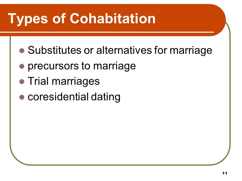 coresidential dating cohabitation