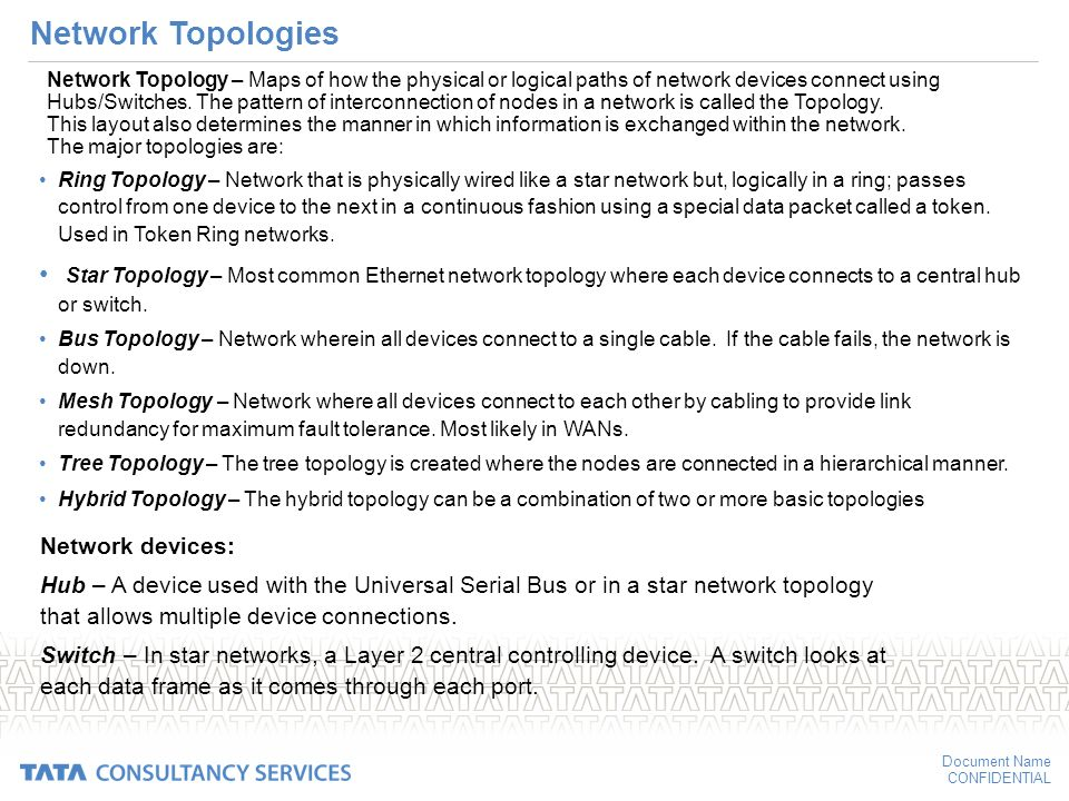 Networking Types and Topologies - ppt download