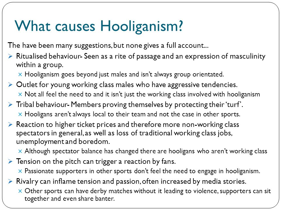 cause and effects of football hooliganism